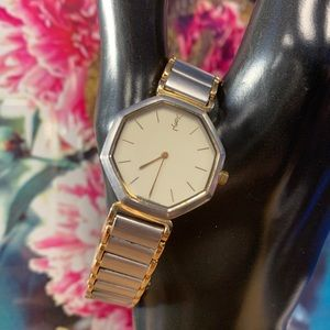 YSL Gold Plated 2200 Octagon Vintage Women's Watch